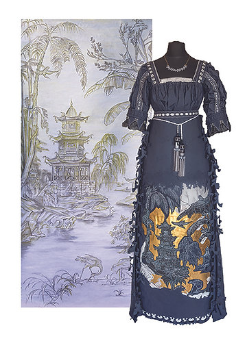11 - Looking East with Pagoda - The Regency Wardrobe collection