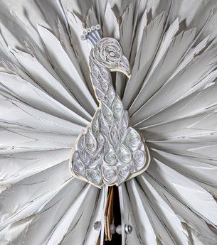 The Regency Wardrobe collection - research & making - The White Peacock - A fan-parasol