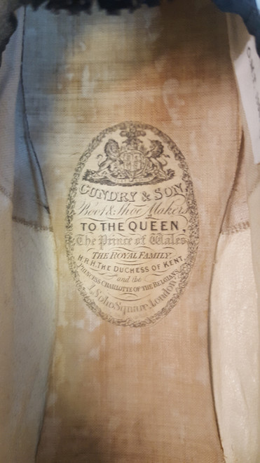 The Regency Wardrobe collection - research - labels and names in shoes