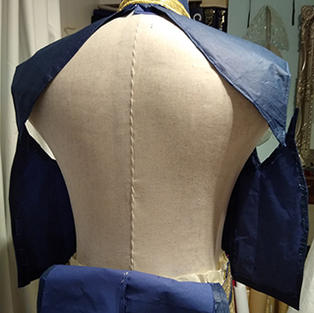 Pieces of the frock coat.
