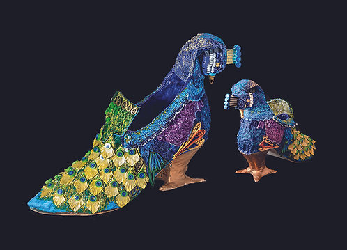 22 - Title: Decorative Displays of Embroidery- 300 Years of Shoes the collection