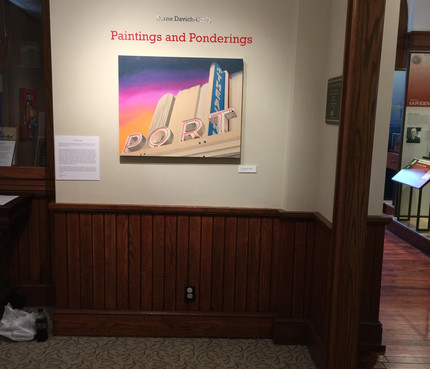 Paintings and Ponderings was a solo show at Custom's House Museum