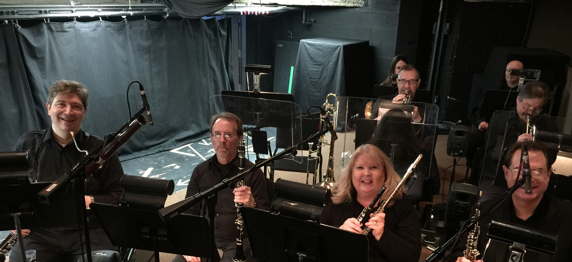 Diane at her other job playing the flute.  This is the pit orchestra for The sound of Music.