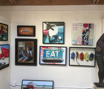 EAT painting in a group show at Winfield Gallery in Carmel, CA