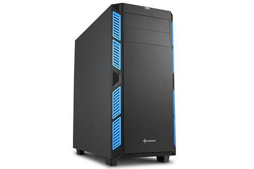 Sharkoon AI7000 ATX Tower - Black & Blue GLASS