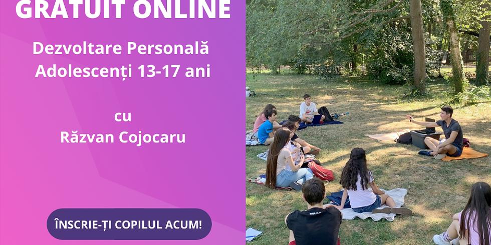 Gratuit 03.10.2020 | Workshop ONLINE Dezvoltare Personală Adolescenţi