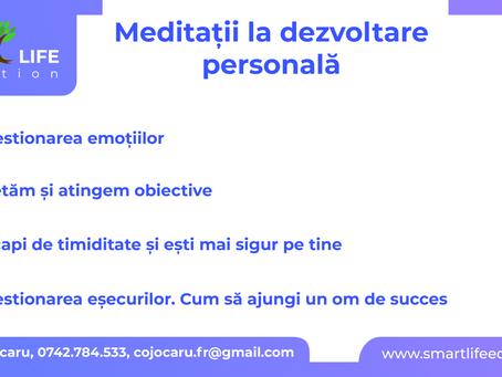 Meditaţii la DEZVOLTARE PERSONALĂ