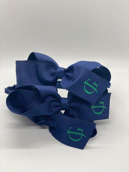 Navy Headband with Kelly Green JG Logo