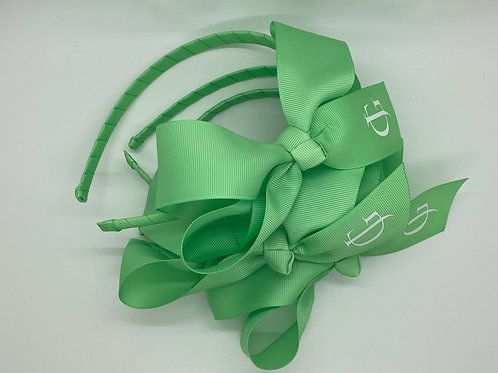 Light Green Headband with White JG Logo