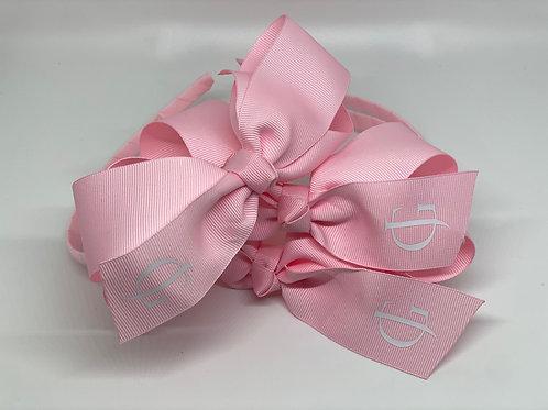 Light Pink Headband with White JG Logo