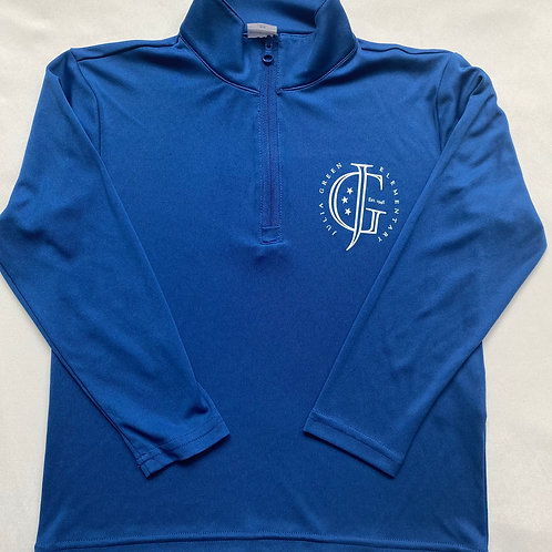 Youth Royal Blue Zip Pullover