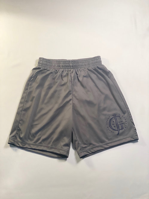 Boys Gray Athletic Shorts