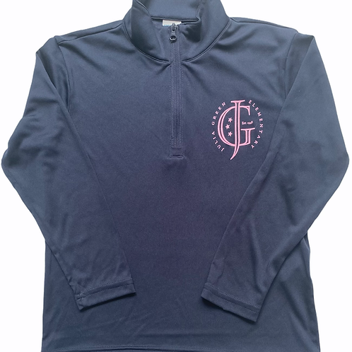 Youth Navy Zip Pullover