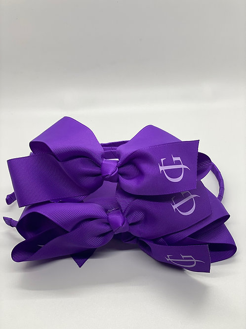Purple Headband with Lilac JG Logo
