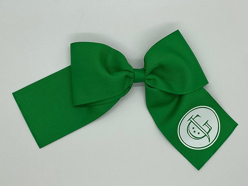 Green with White JG Logo Bow
