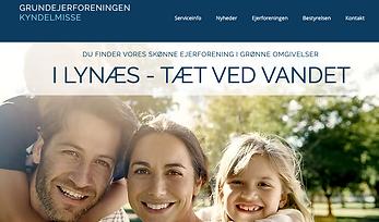 Grundejerforening Kyndelmisses hjemmeside designet af Tine Bihlet Webdesign i Lynæs
