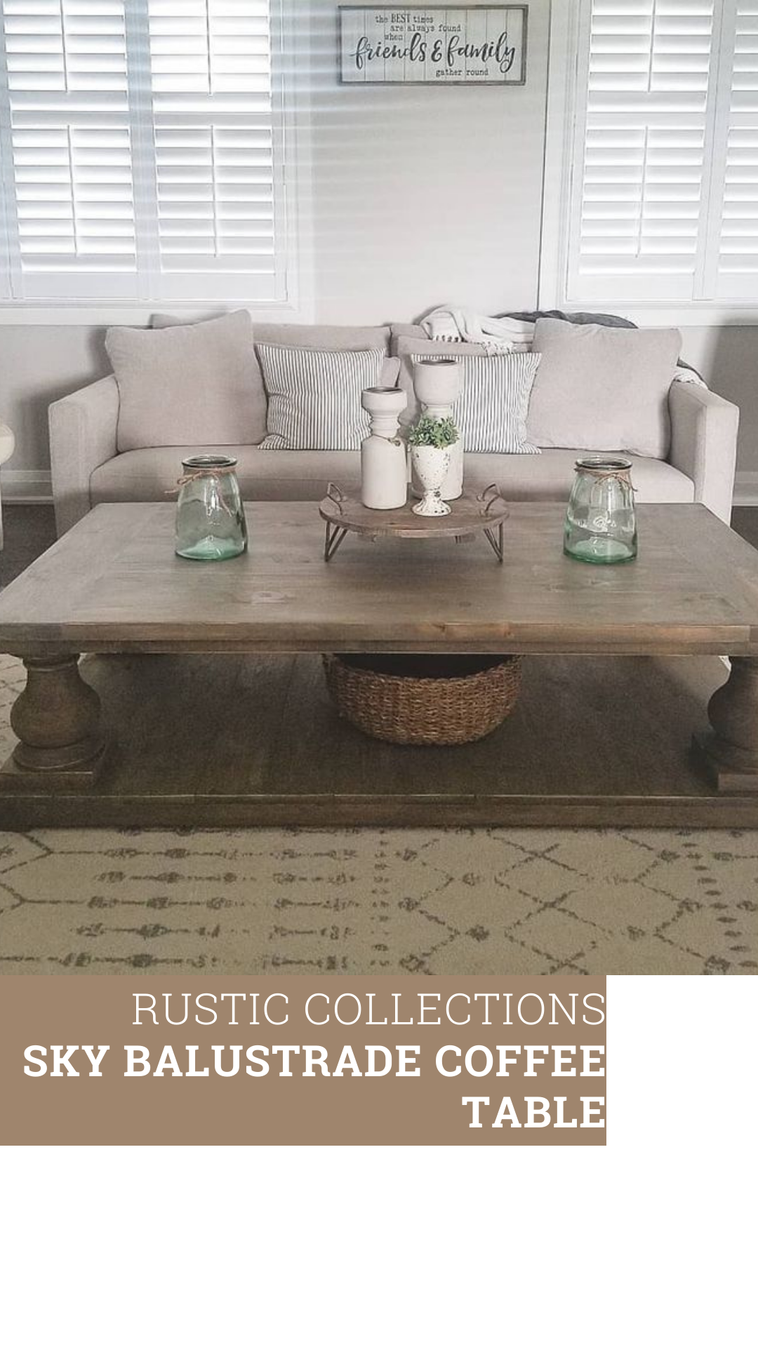 Sky Balustrade Coffee Table Rustic Collections