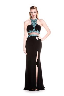 Saskia Black _ Turquoise 1
