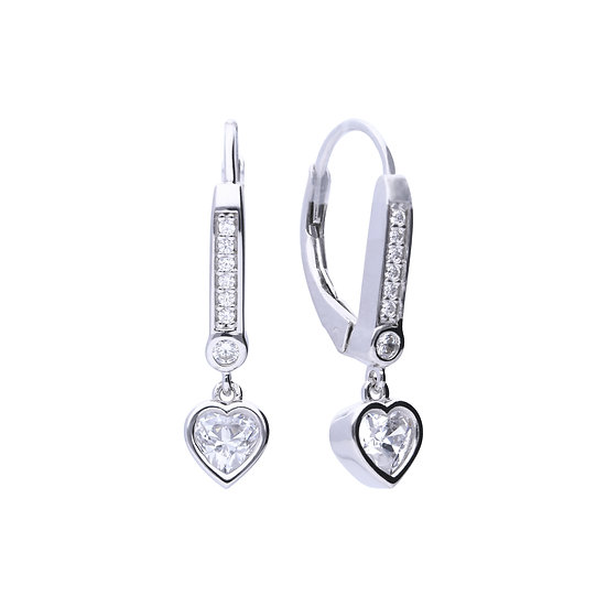 Diamonfire sterling silver earrings