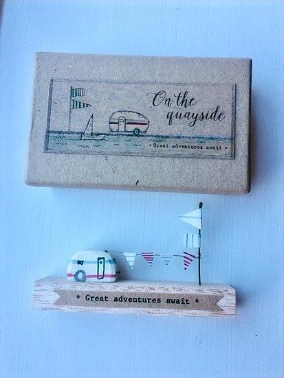 'Great Adventures Await' Wooden Decoration
