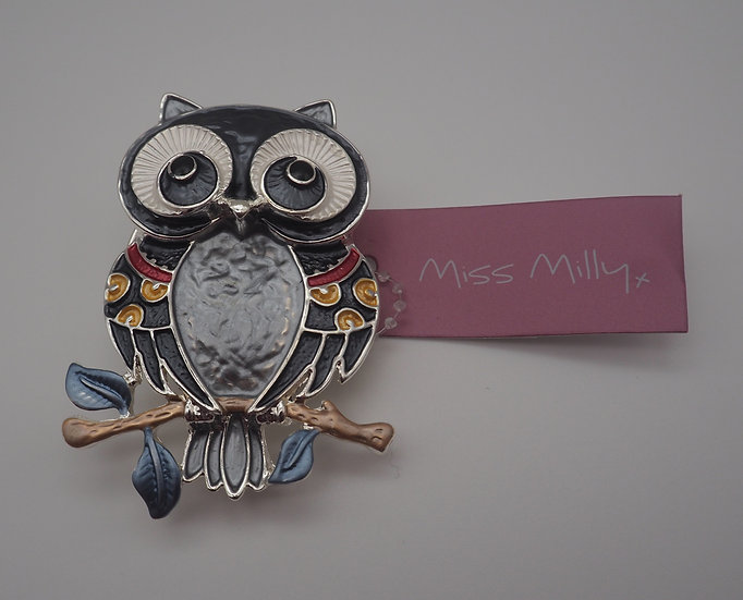 Grey Owl Brooch
