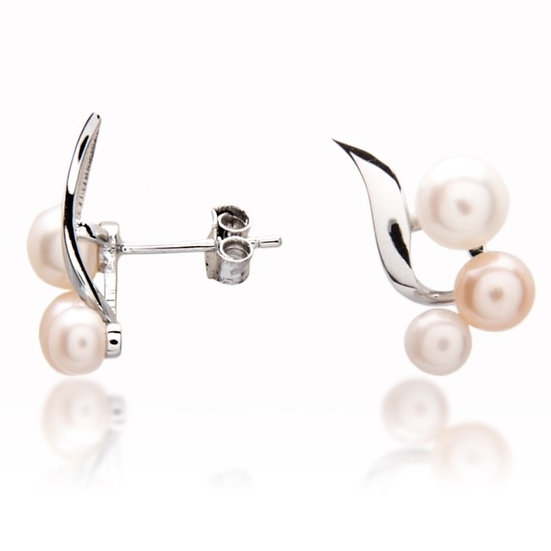 925 Sterling Silver and Freshwater Pearl Stud Earrings