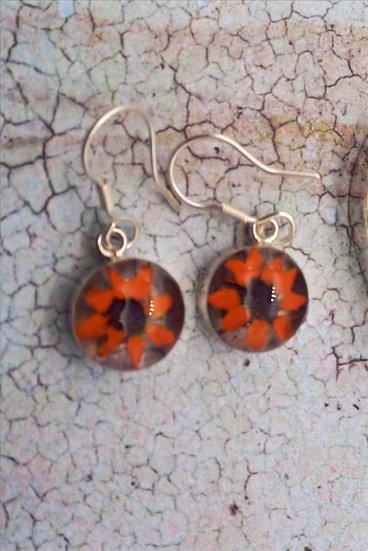 Shrieking Violet Round Drop Earrings
