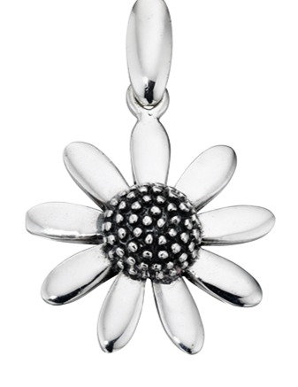 925 Sterling silver daisy pendant