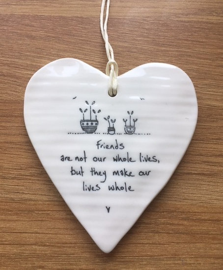East of India Round Porcelain Heart
