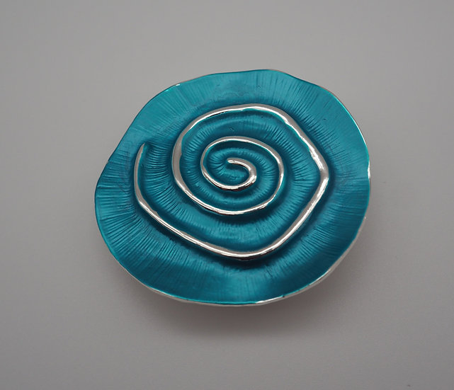 Turquoise Rose Brooch
