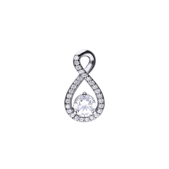 Diamonfire sterling silver infinity necklace