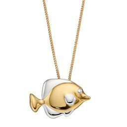 925 Sterling silver and gold plated necklace