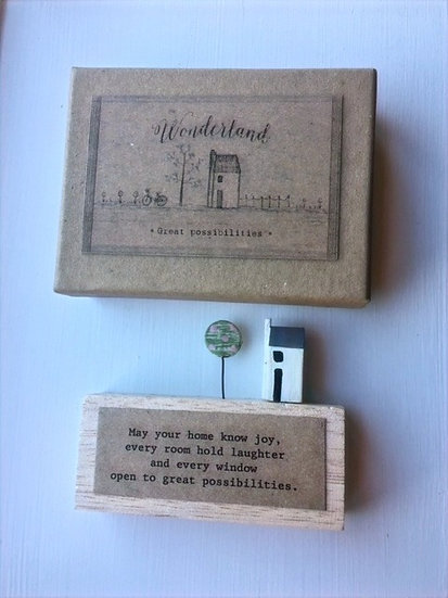 'May Your Home Know Joy...' Wooden Decoration