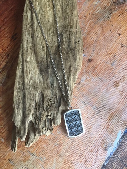 Fred Bennett Stainless Steel & Leather Dog Tag
