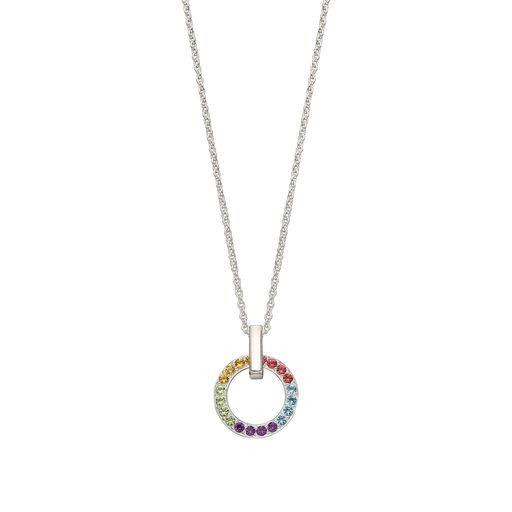 925 Sterling Silver Rainbow Pendant