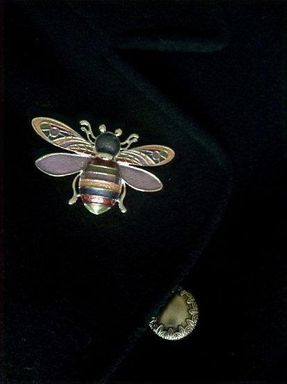 Multi Colour Bee Brooch
