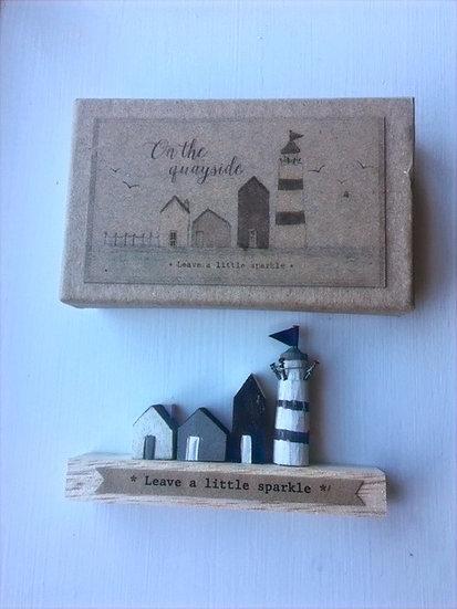 'Leave a Little Sparkle' Wooden Decoration