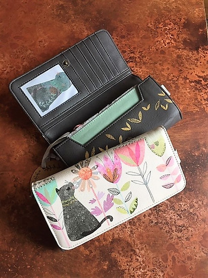 Ink Press Garden Cat Wallet