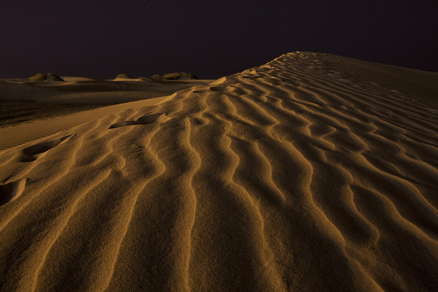 dunes sand night travel canary islands b