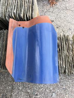Blue spanish tile