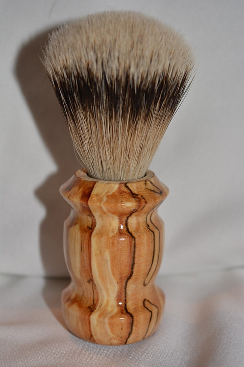 Handmade Spalted Pacific Alder Wood Shaving Brush