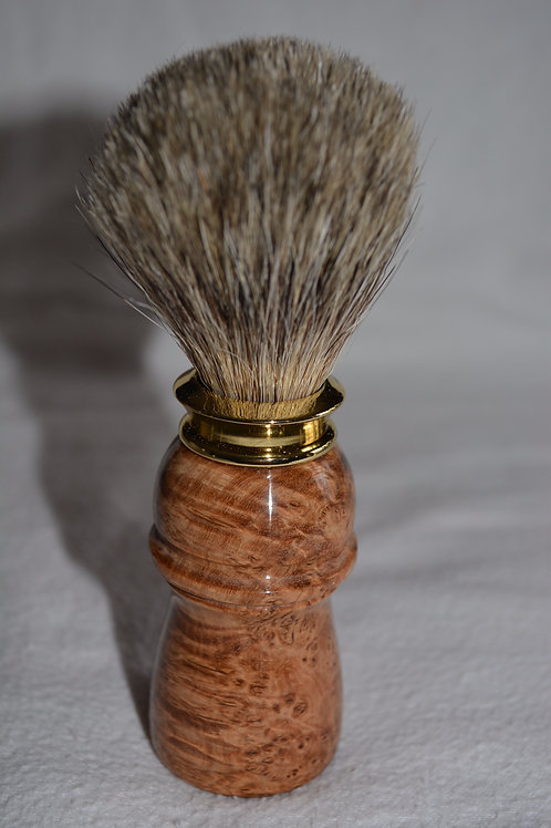 Handmade Black Ash Burl Shaving Brush
