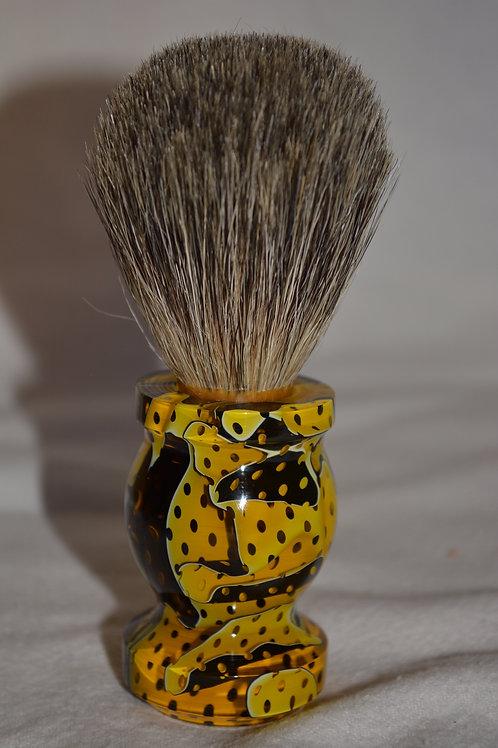 Handmade Yellow Citrine Badger Hair Shaving Brush