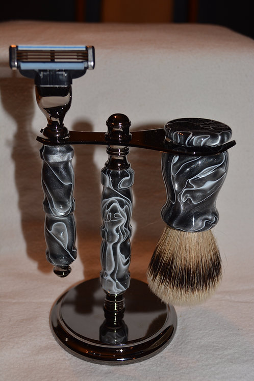 Handmade 3 Piece Shaving Set
