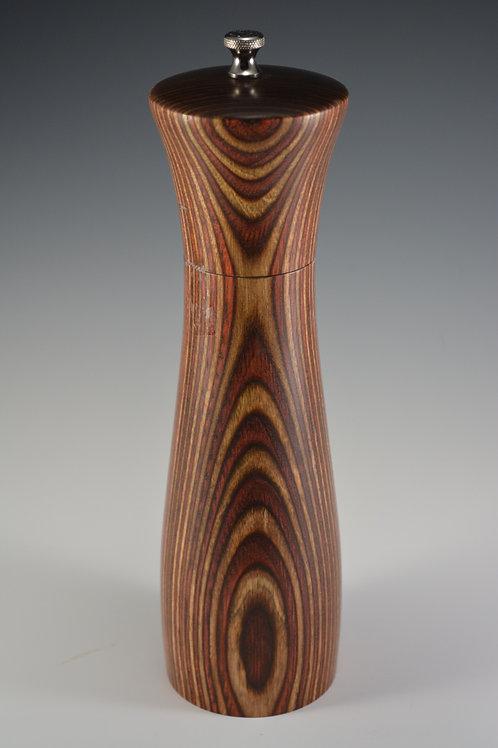 Amazing Handmade Multi Colored Wood Pepper/Salt Mill