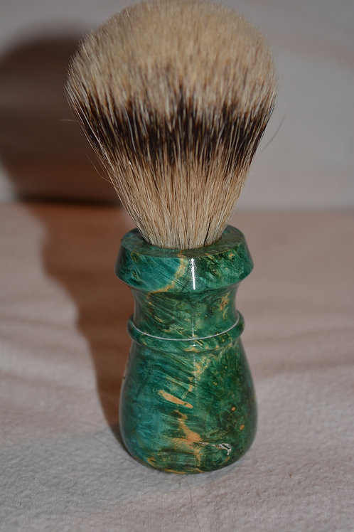 Beautiful Handmade Box Elder Burl Shaving Brush