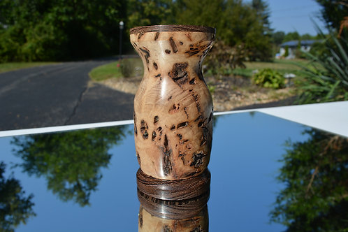 500 Year Old Tasmanian White Top Decorative Vase