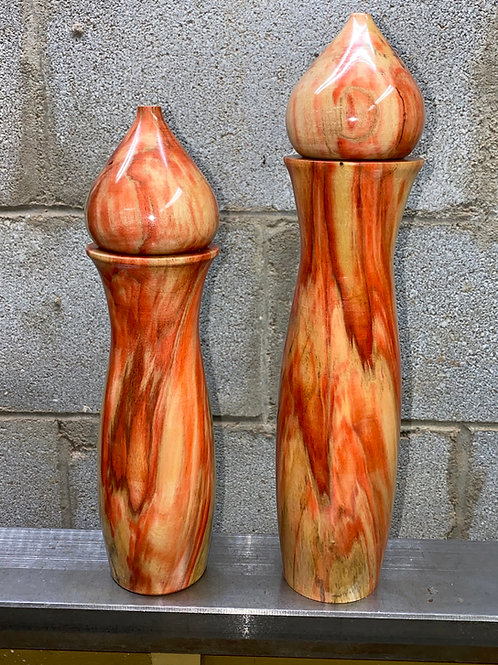Awesome Flame Box Elder Salt and Pepper Mill Set