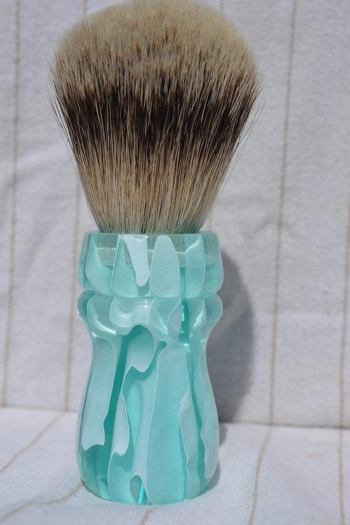 """Handmade 24mm Badger Hair Brush """"Arctic Iceberg"""""""