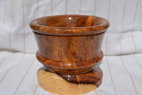 Rare Rosewood Shaving Bowl